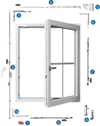 Ferramenta finestre oscillo battenti standard finestre - Ferramenta per finestre ...